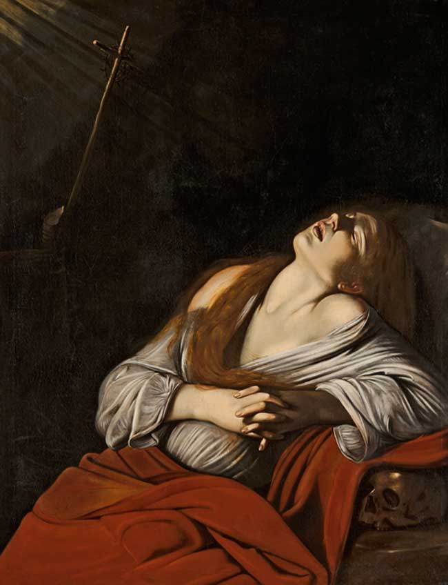 Louis Finson. La Magdalena en éxtasis,  hacia 1613. Marsella, Musée des Beaux-Arts