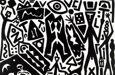 A.R. Penck. Systembild-neue Alte Welte, 2007
