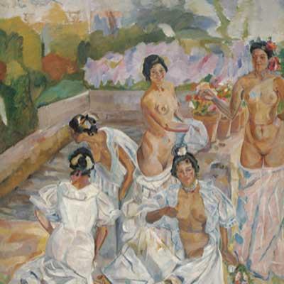 Francisco Iturrino. El baño (Sevilla), c. 1908. Colección Carmen Thyssen-Bornemisza