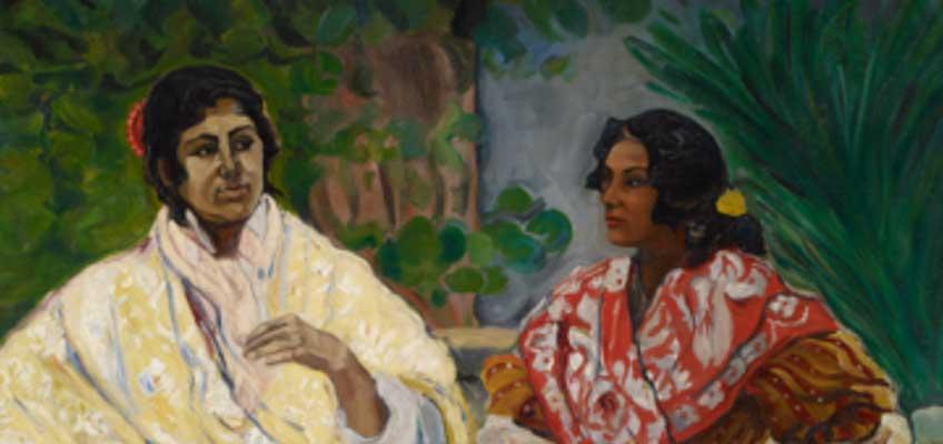 Francisco Iturrino. Dos gitanas (fragmento), hacia 1901-1903. © Colección Carmen Thyssen-Bornemisza