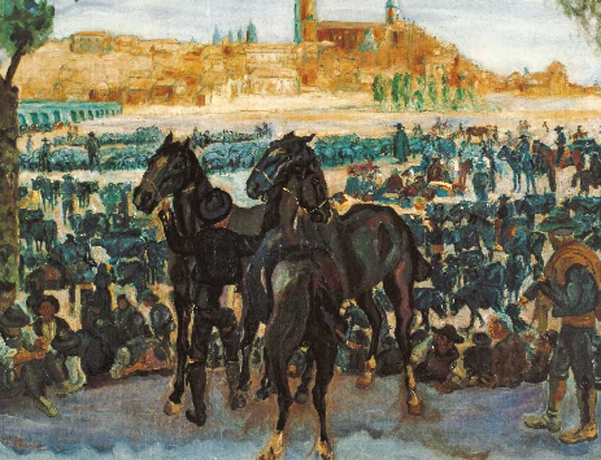 Francisco Iturrino. Feria de ganado en Salamanca, hacia 1898. © Colección Carmen Thyssen-Bornemisza