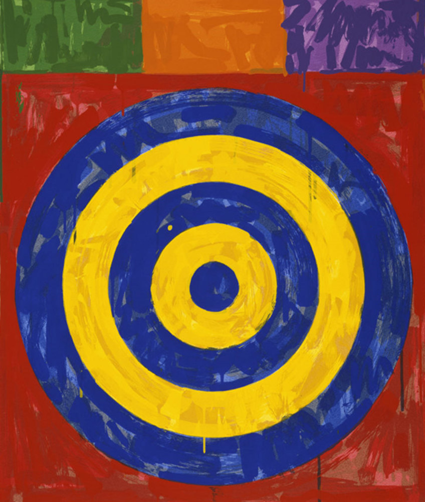 Jasper Johns. Target, 1974. Walker Art Center. © Jasper Johns/VAGA at Artists Rights Society (ARS), NY