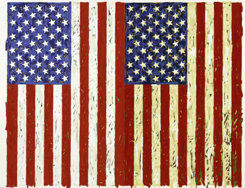 Jasper Johns. Flags I, 1973. Walker Art Center. © Jasper Johns/VAGA at Artists Rights Society (ARS), NY