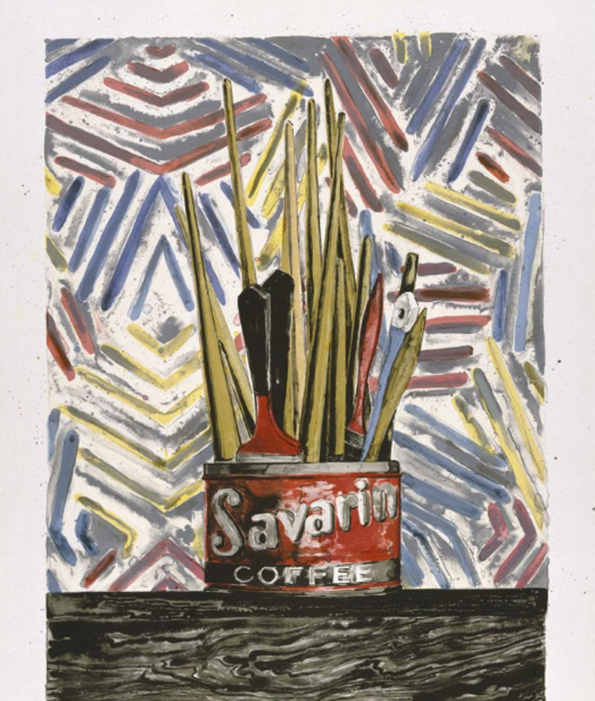 Jasper Johns. Savarin, 1977. Walker Art Center. © Jasper Johns and U.L.A.E./VAGA at Artists Rights Society (ARS), NY