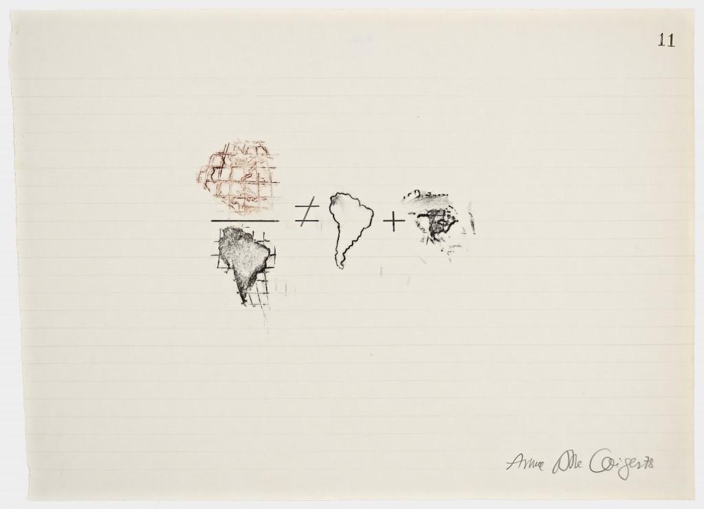 Anna Bella Geiger. Equations No 11, 1978 Cortesía de Henrique Faria Fine Art