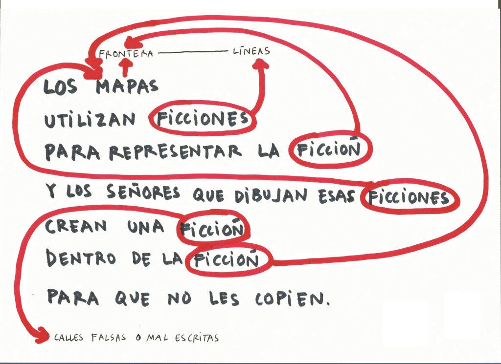 Ana García-Pineda Los Mapas. Señores sentados haciendo rayas, 2018 Cortesía de la artista