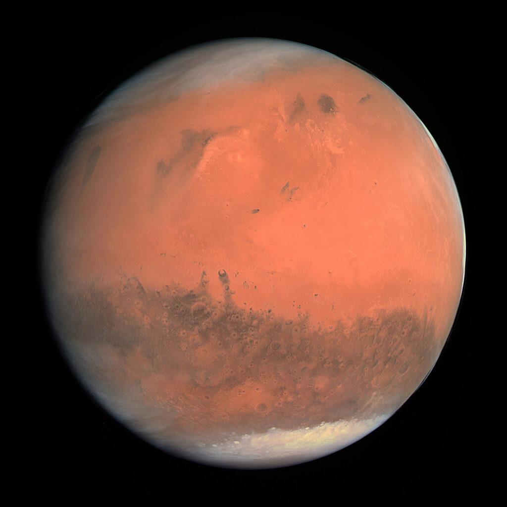 Imagen del auténtico color de Marte, realizada en febrero de 2007 por el instrumento OSIRIS de la sonda espacial Rosetta. © ESA-Agencia Espacial Europea