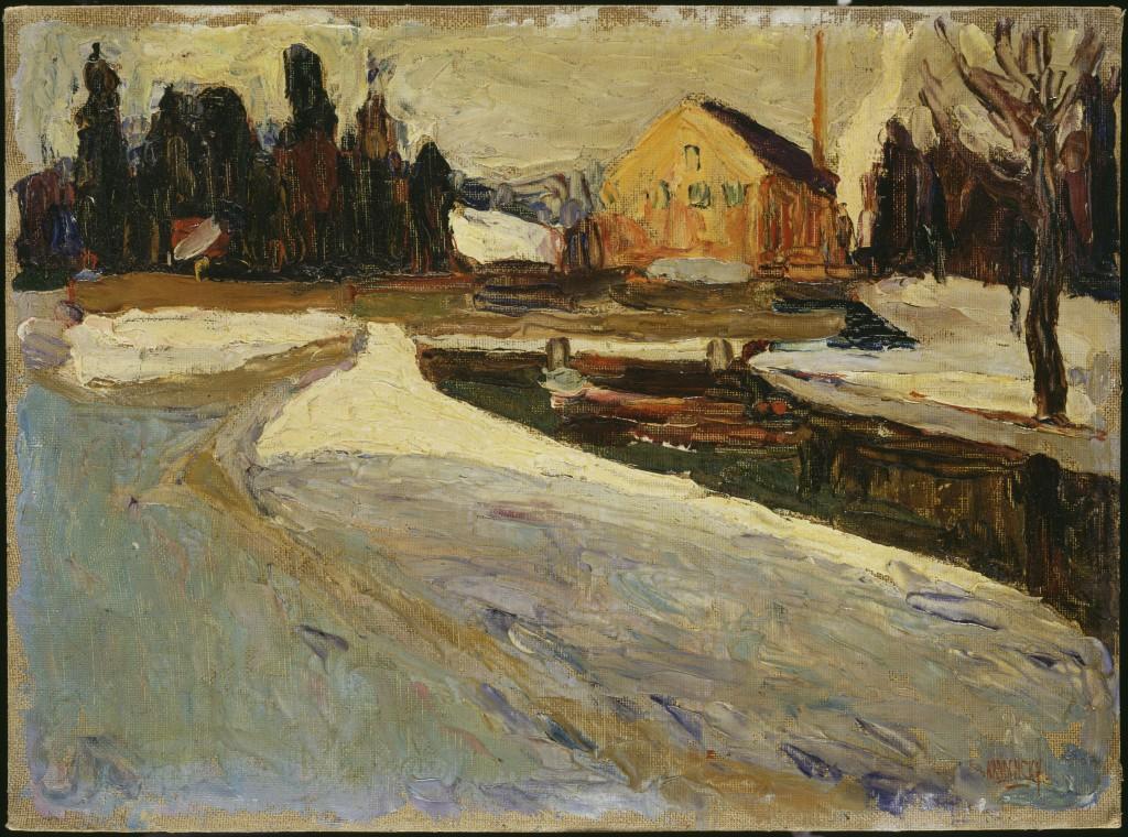 Wassily Kandinsky. Schwabing, Wintersonne (Schwabing: Sol de invierno), 1901. © Vassily Kandinsky, VEGAP, Madrid 2015