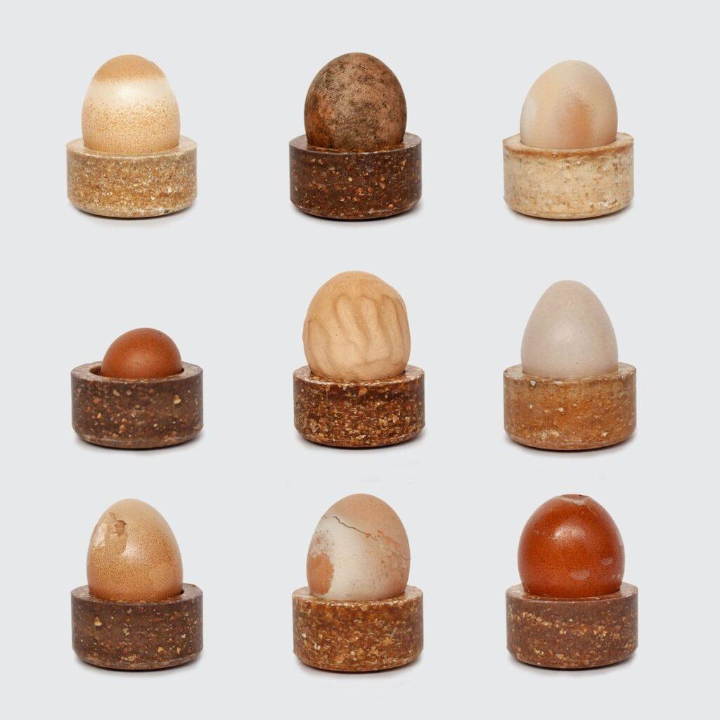 Basse Stittgen. Joyero y portahuevos How do you like your eggs, 2019