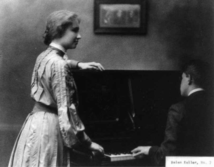 Retrato de Hellen Keller, hacia 1904. Foto: Whitman, Chelsea, Mass