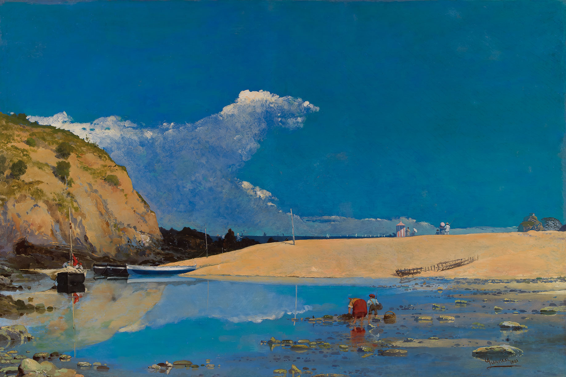Anselmo Guinea. Playa de Bakio, 1881