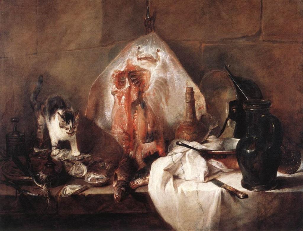 Chardin. La raya, 1725