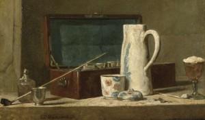 Chardin. La tabaquera, 1737