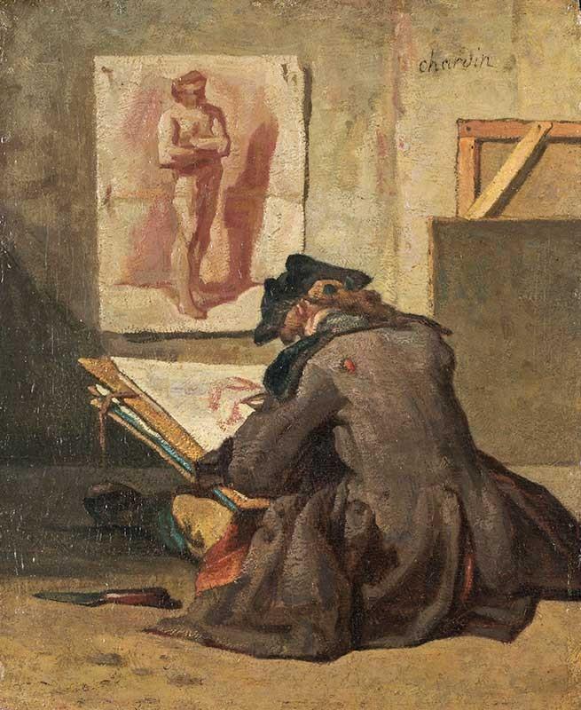 Chardin. Joven estudiante dibujando, 1738