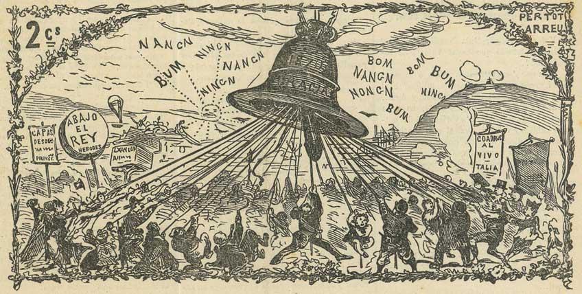Charivaria. Exposición en CentroCentro. La campana de Gracia. Any II batallada LXII. 1871