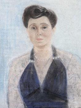 """Lygia Clark. Retrato de la pianista Angélica de Rezende (Retrato da pianista Angélica de Rezende), años 40. © Cortesía Asociación Cultural """"The World of Lygia Clark"""""""
