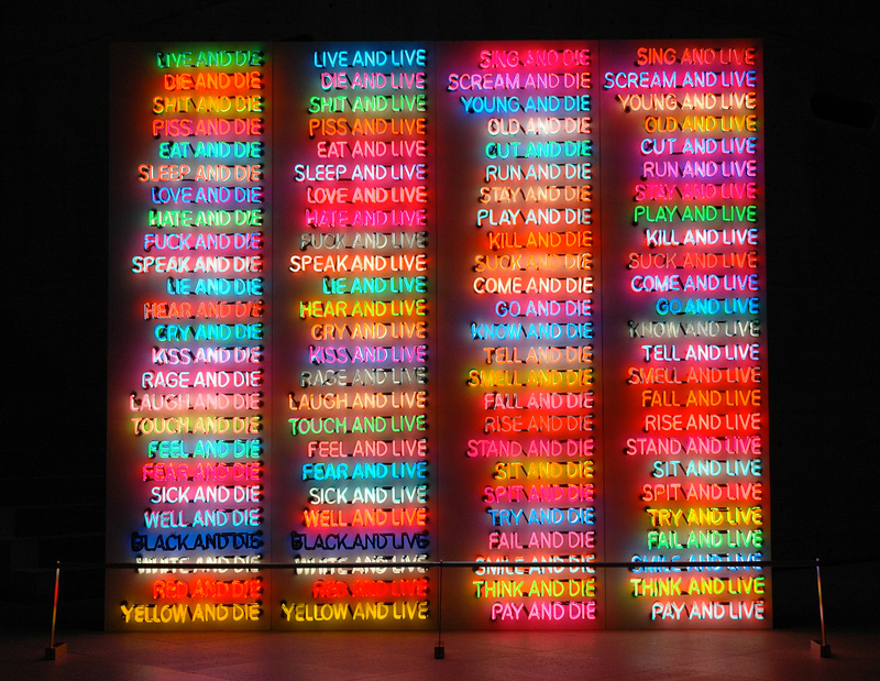 Bruce Nauman. One Hundred Live and Die, 1984