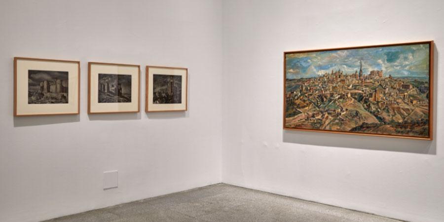 Vista de la sal El pan y la cruz, con trabajos de Ortiz Echagüe y Benjamín Palencia. Museo Reina Sofía