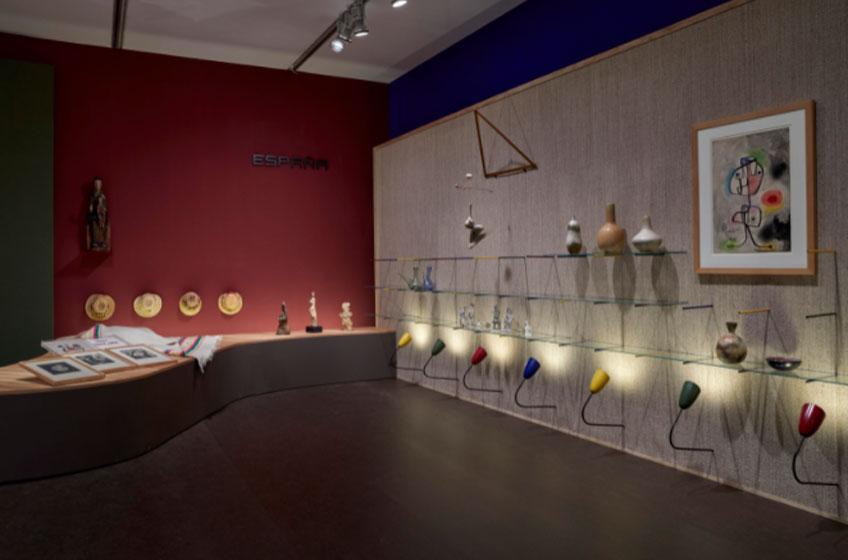 Vista de la sala Coderch y la nueva imagen de España. Museo Reina Sofía