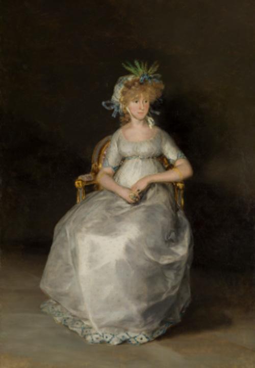 Goya. La condesa de Chinchón (después de la restauración), 1800. Museo Nacional del Prado