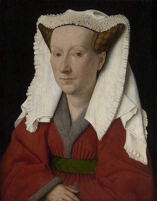 Jan van Eyck. Retrato de Margarita van Eyck