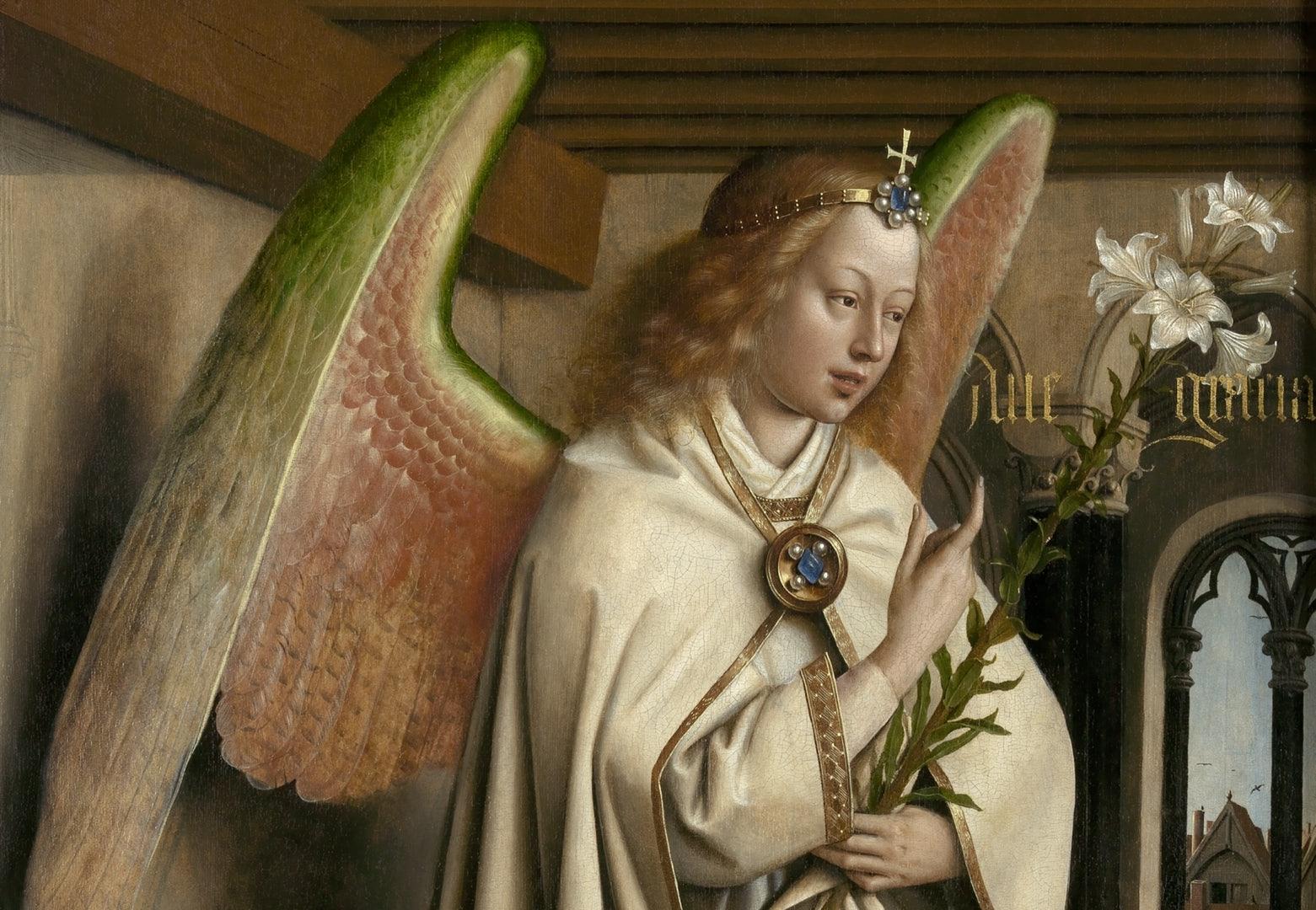 Jan van Eyck. Detalle del Altar del Cordero Místico de la Catedral de San Bavón de Gante