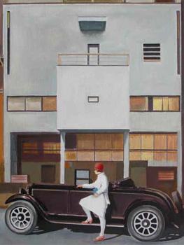 Damián Flores. Yvonne ante la maison Planeix, Paris. 1927, 2011