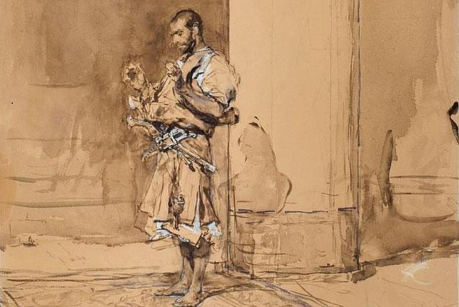 Mariano Fortuny. La plegaria