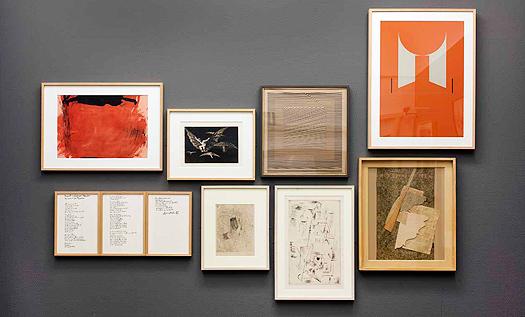 Obras de Antoni Tàpies, Francisco de Goya, Eusebio Sempere, Gustavo Torner, Rafael Alberti, Pablo Picasso y Gerardo Rueda. ©Vegap, Madrid, 2016