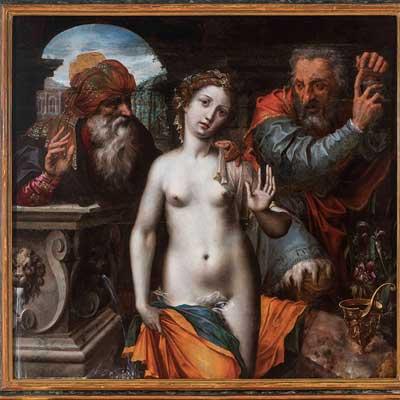 Atribuido a Jan Massys. Casta Susana, hacia 1535-1545. Museo San Te