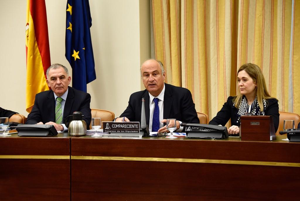 Fernando Benzo, Secretario de Estado de Cultura, durante la comparecencia