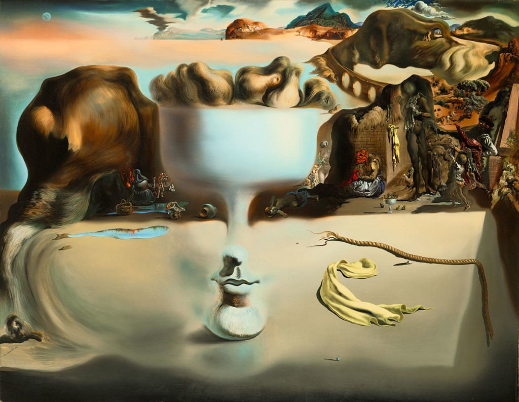 Salvador Dalí. Apparition of Face and Fruit Dish on a Beach, 1938