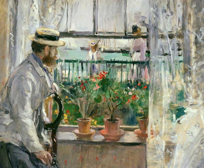 Berthe Morisot. In England (Eugène Manet on the Isle of Wight), 1875. Musé Marmottan-Monet