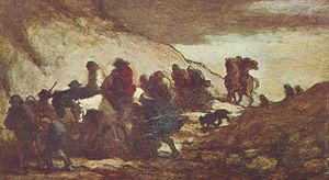 Honoré Daumier. Los fugitivos