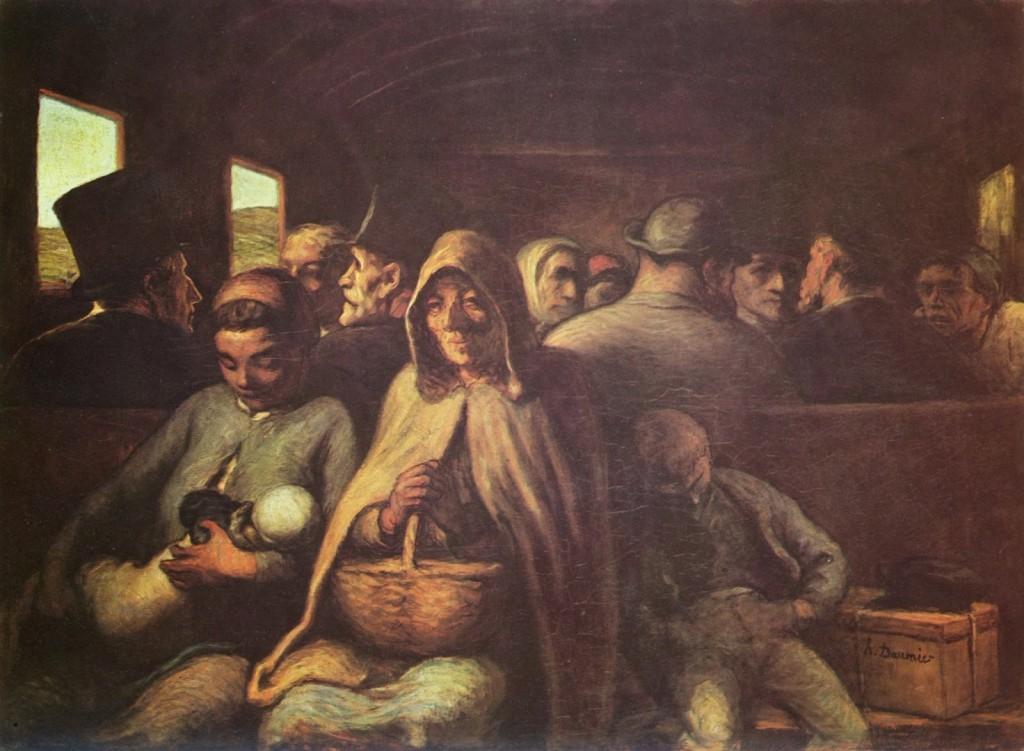 Honoré Daumier. El vagón de tercera clase, 1864. Metropolitan Museum, Nueva York