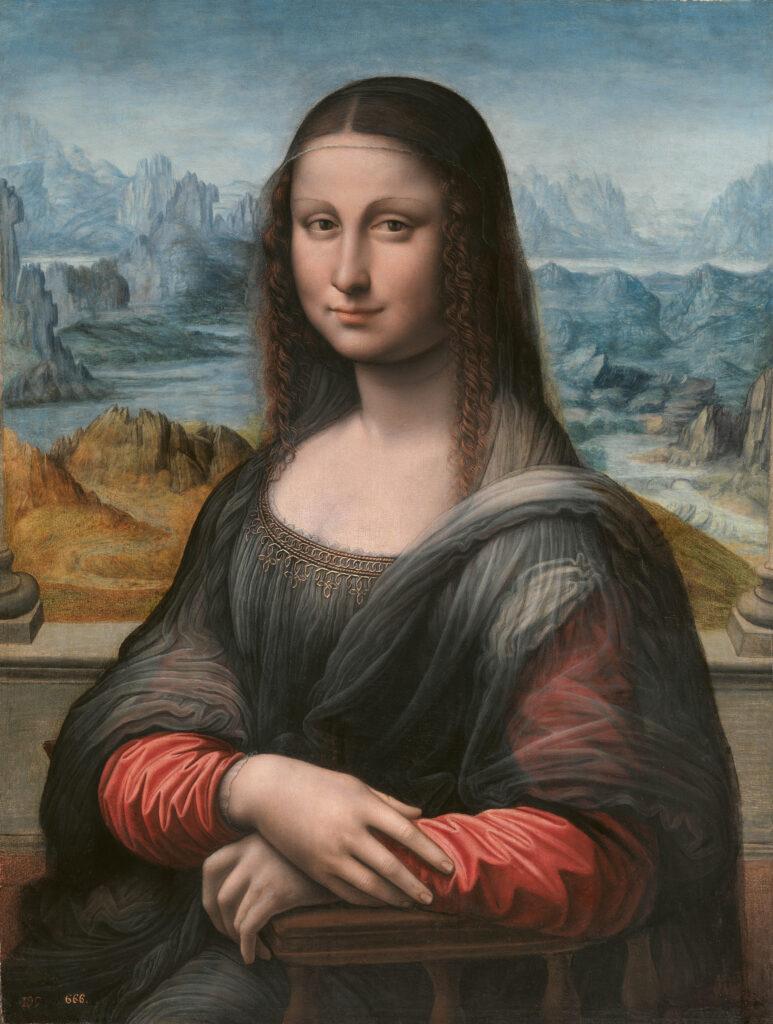 Taller de Leonardo da Vinci. Mona Lisa (antes de la restauración), 1507/1508-1513/1516. Museo Nacional del Prado