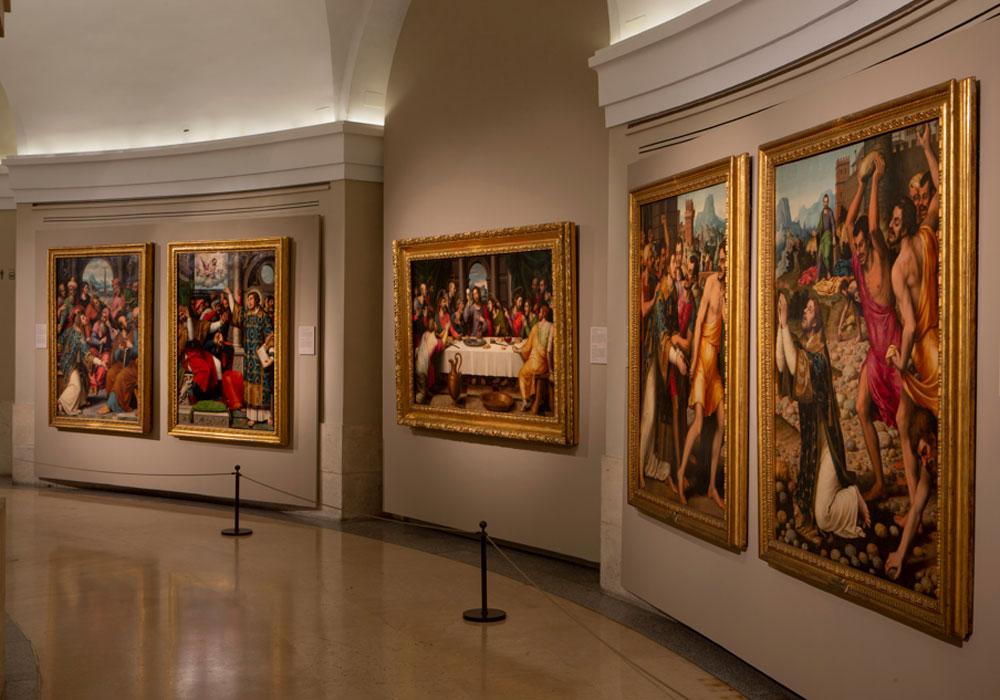 Imagen de la sala dedicada a Juan de Juanes. Foto © Museo Nacional del Prado