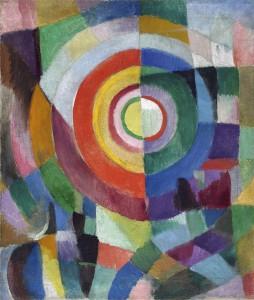 Sonia Delaunay. Prismas eléctricos nº 41, 1913-1914. Musée d´ Art Moderne de la Ville de París