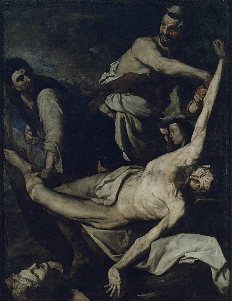 José de Ribera. Martirio de San Bartolomé, 1644. Museu Nacional d'Art de Catalunya