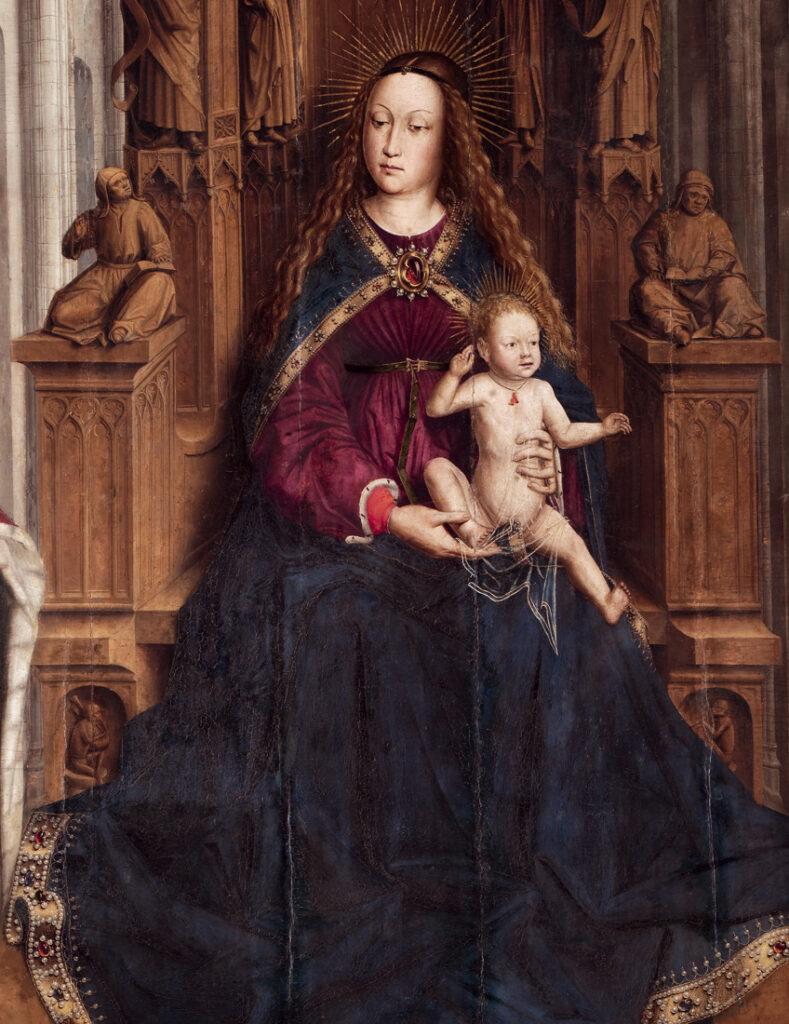 10.Lluís Dalmau. Mare de Déu dels Consellers. Detall, 1443-1445. Museu Nacional d'Art de Catalunya