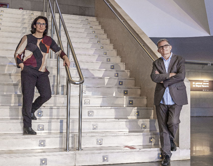 José Miguel García Cortés y Nuria Enguita, directores del IVAM y Bombas Gens