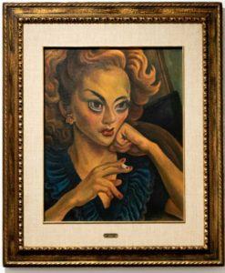 Diego Rivera. Retrato de actriz, 1948. Exposición en Casa de México en España. Del 3 de octubre de 2019 al 16 de febrero de 2020