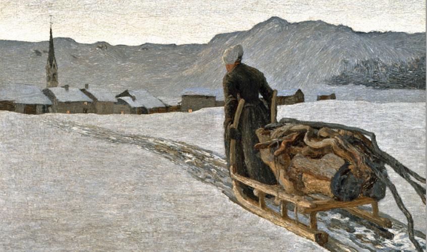 Giovanni Segantini. Ritorno dal bosco, 1890. Otto Fischbacher / Giovanni Segantini Foundation. En depósito permanente en el Segantini Museum, St. Moritz