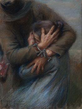 Giuseppe Mentessi. Lacrime, 1898. Pinacoteca Fondazione Cassa di Risparmio di Tortona, Tortona