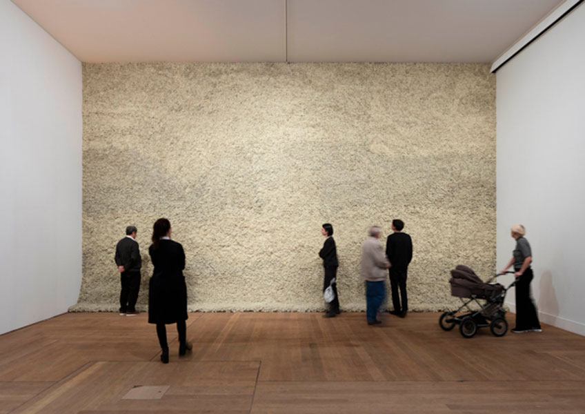 Olafur Eliasson. Moss wall, 1994