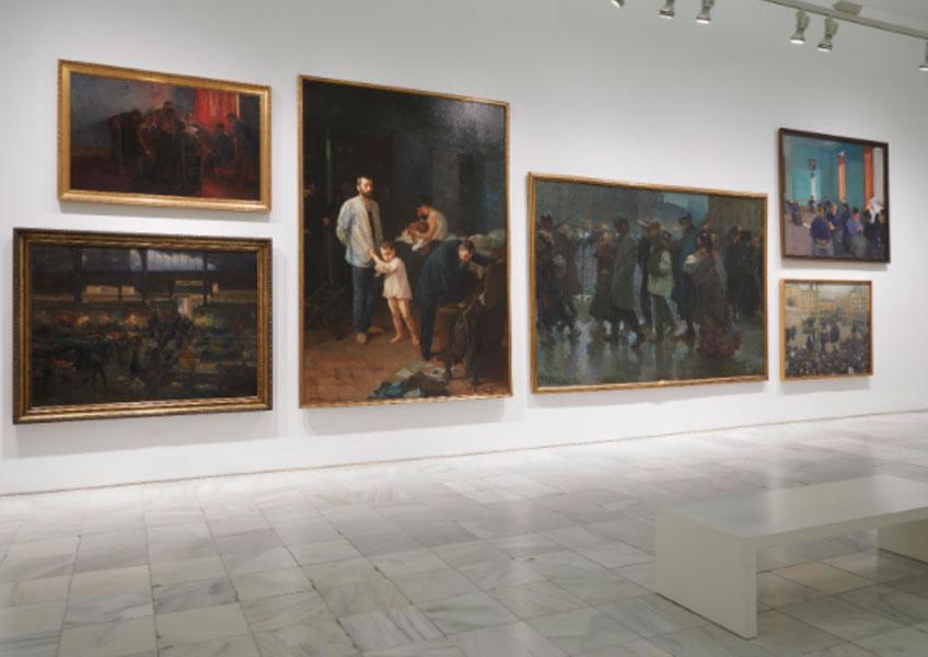 Vista de las nuevas salas de la Colección. Sala 208 del edificio Sabatini