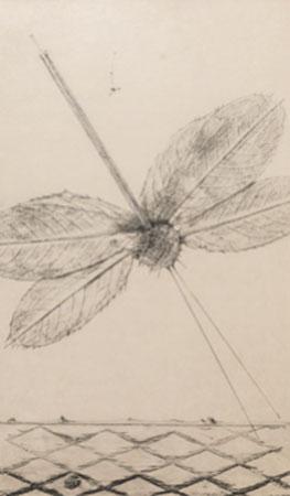 Max Ernst. Les éclairs au-dessous de quatorze ans. Serie Historia natural, 1926. Colección particular