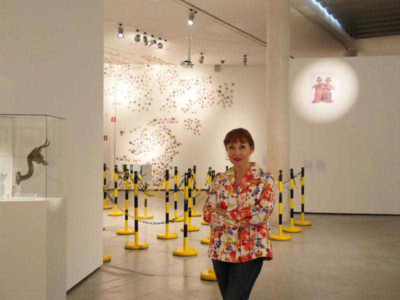 """Nekane Aramburu en la exposición """"Ellos y nosotros"""", en Es Baluard"""