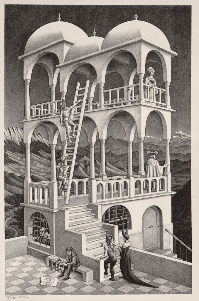 Maurits Cornelis Escher. Belvedere, 1958. The Escher Foundation Collection. © 2017 The M.C. Escher Company The Netherlands