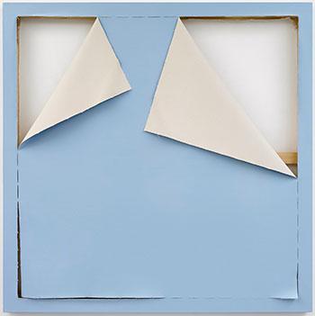 Ángela de la Cruz. Fondo azul, 2018. Estampa